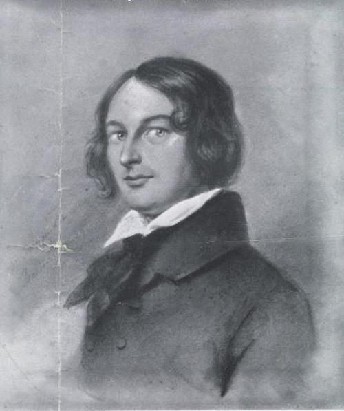 H.W. Franquinet, print of 1839 portrait of Henry Wadsworth Longfellow